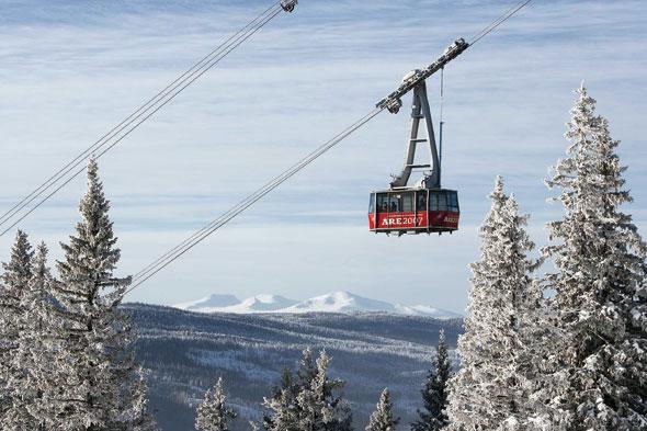 De gindola naar de hoogste top