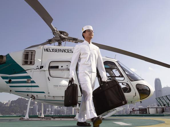 Helicoptervlucht boven Hong Kong