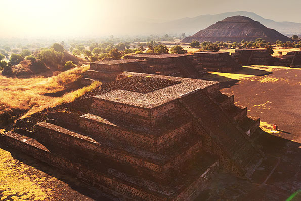 Panorama over Teotihuacan