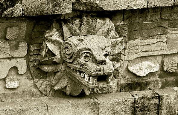Detail bij de pyramides van Teotihuacán