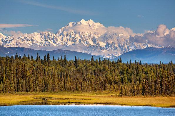Mount McKinley in het Denali National Park in Alaska