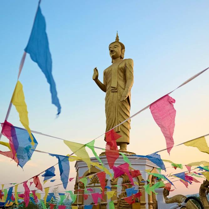 boeddha's schild in Laos