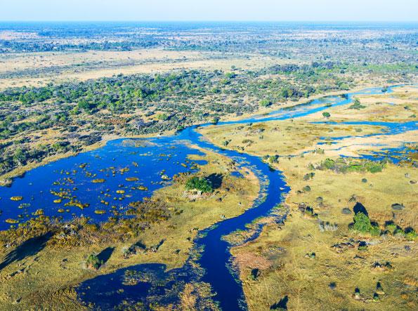 Okavanga Delta in Botswana