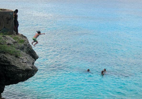 Waterpret op Curacao