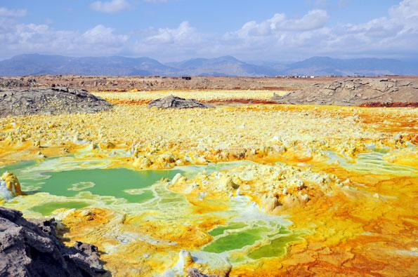 Danakil woestijn in Ethiopië