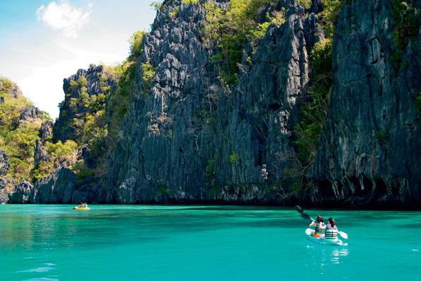 Kayakken op de Filipijnen