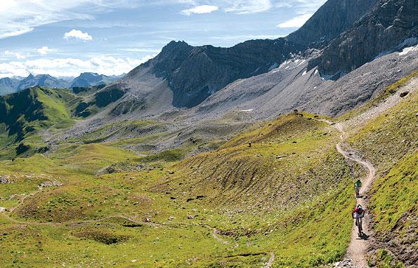 Fietsen in Graubuenden, Zwitserland
