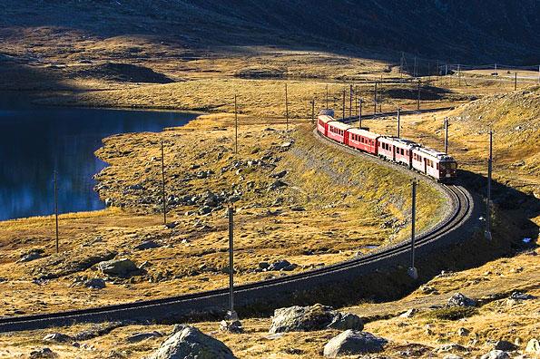 De Rhätische Bahn in Graubuenden