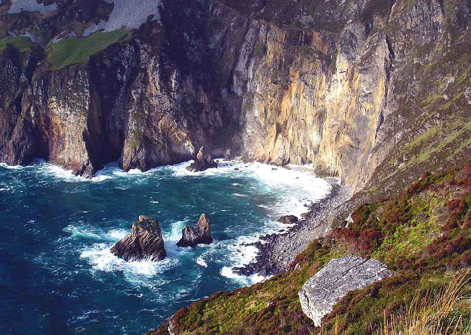 De Ierse kust is grillig