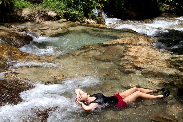Dunn's River Falls op Jamaica