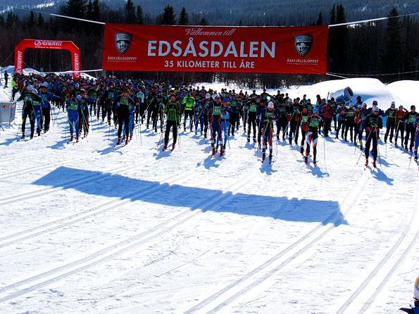 Langlaufwedstrijd in Jamtland, Zweden