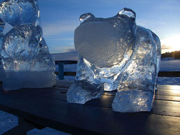 IJssculptuur in Jamtland, Zweden
