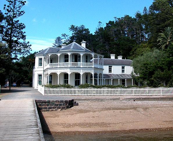 Koloniaal huis op Kawau Island