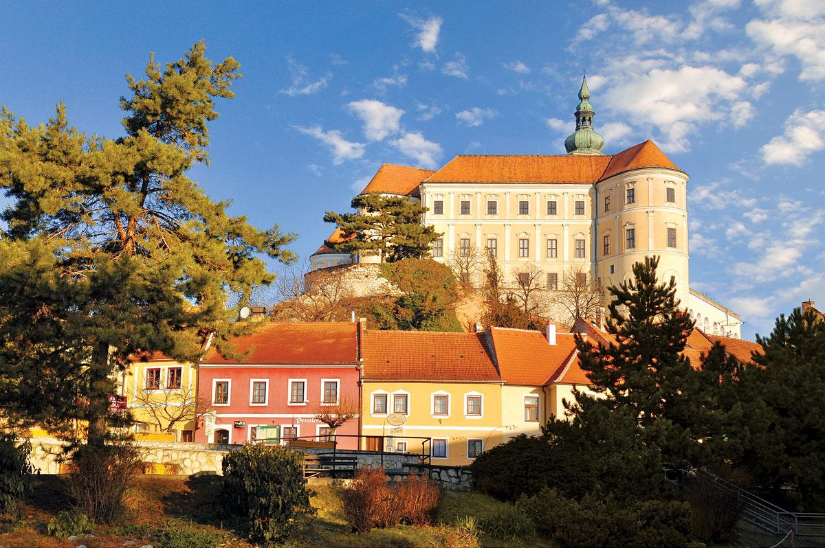 Kasteel Mikulov in Moravië
