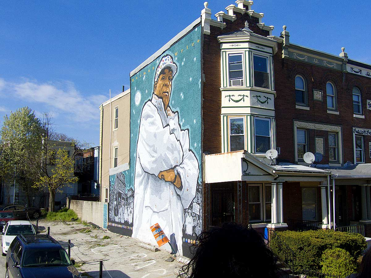 Een mural in Philadelphia