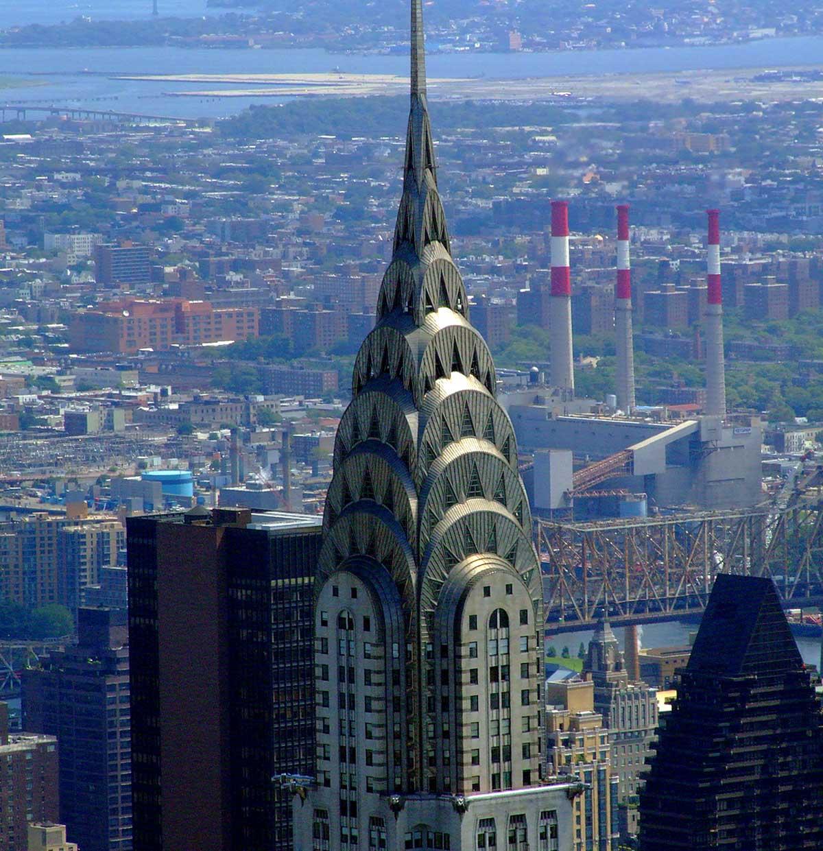 Het Chrysler Building in New York, gezien vanaf het Empire State Building