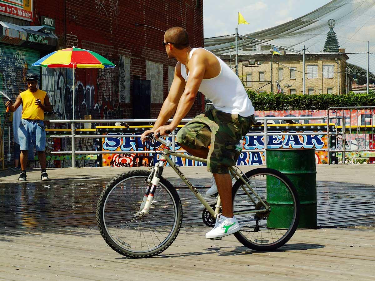 Wandelen en fietsen in New York City