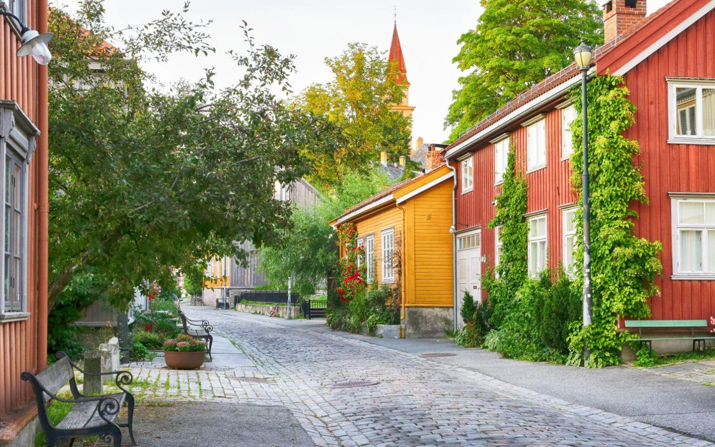 Trondheim in Noorwegen