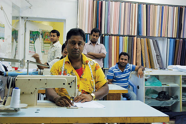 Een kleermaker in Muscat