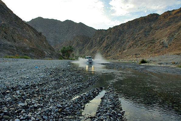 Wadi bashing in Oman