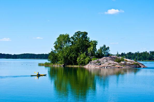 Per kano over de Finse meren