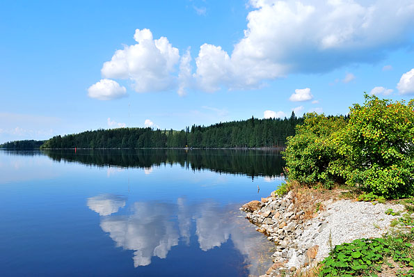 Het Kolovesi-meer in Finland