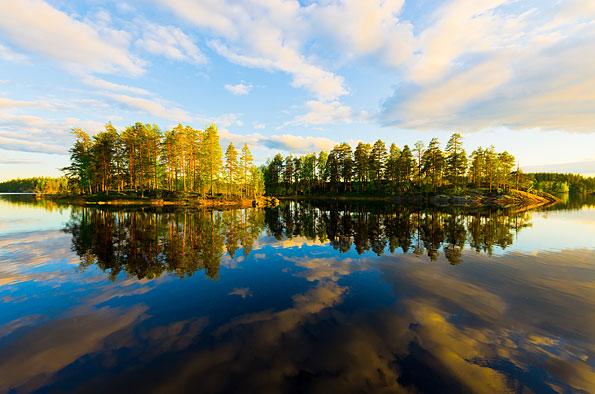 Het Saimaa merengebied in Finland