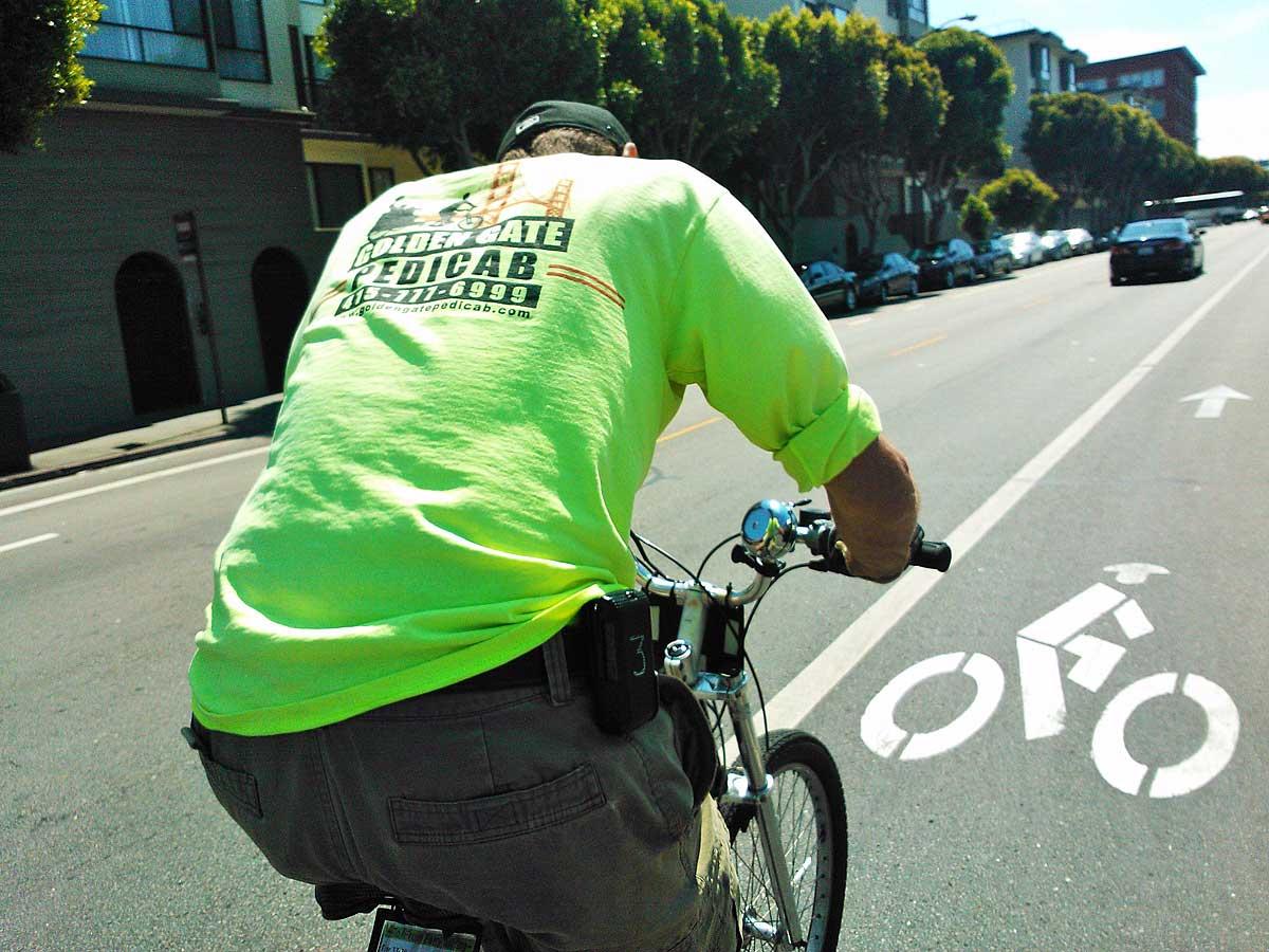Fietsen door San Francisco (foto Harald Kolkman)