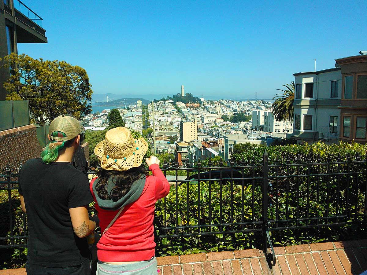 Uitzicht over San Francisco (foto Harald Kolkman)
