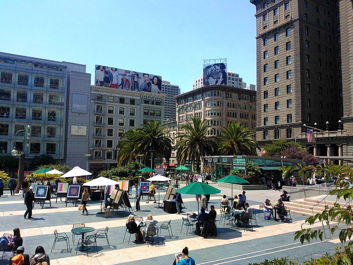 Union Square in San Francisco (foto Harald Kolkman)