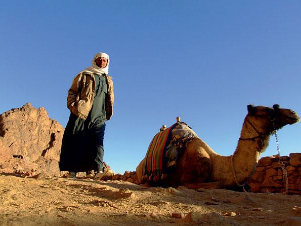 Locals in de Egyptische Sinaï woestijn