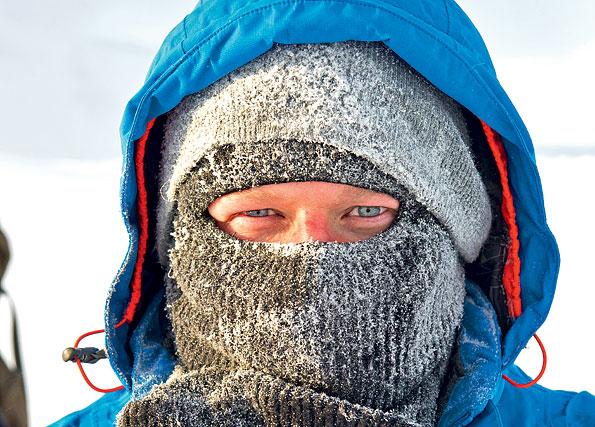 Het kan heel koud zijn op Spitsbergen