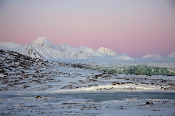 Het landschap van Spitsbergen