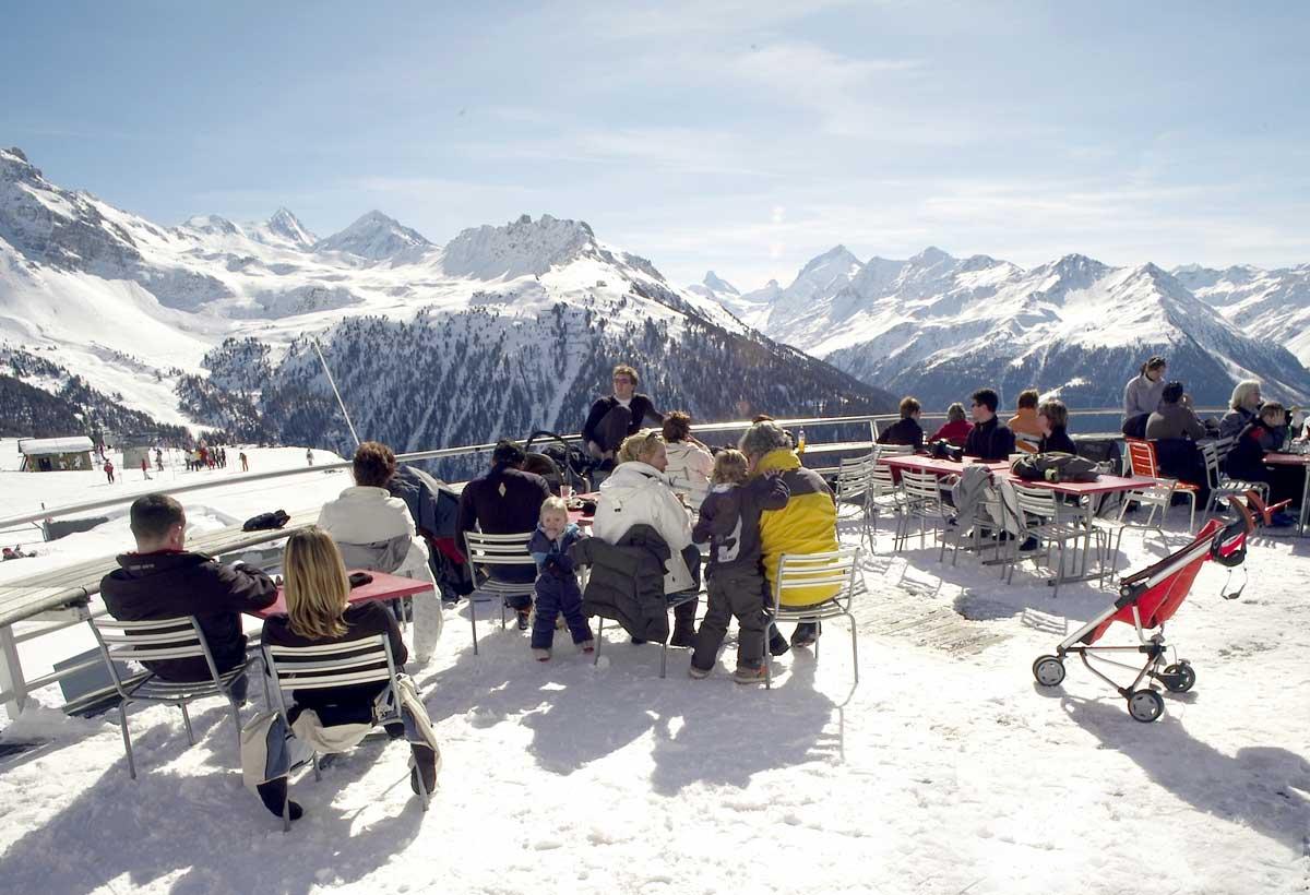 Uitzicht in Val d'' Anniviers